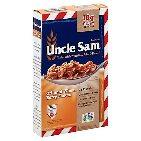 Uncle Sam Cereal Original Wheat Berry Flakes - 13 Oz
