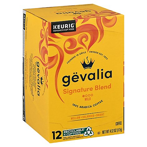 Gevalia Heritage Collection Coffee K-Cup Pods Mild Roast Signature Blend 12 Count - 4.12 Oz