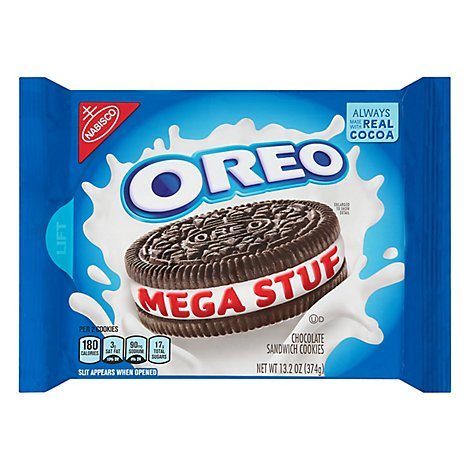 OREO Mega Stuf Cookies Sandwich Chocolate - 13.2 Oz