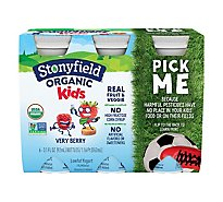 Stonyfield Organic Yokids Smoothie Yogurt Lowfat Very Berry - 6-3.1 Fl. Oz.