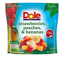 Dole Fruit Cut Strawberrys Peaches & Bananas - 14 Oz