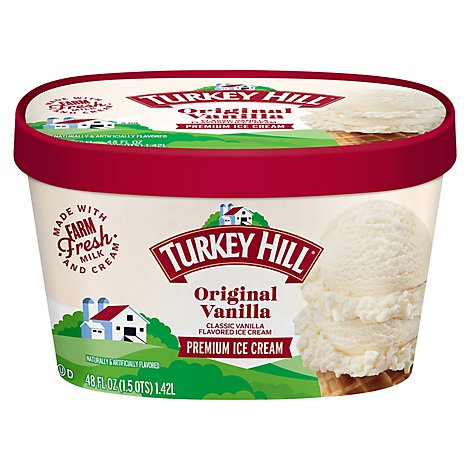 Turkey Hill Ice Cream Premium Original Vanilla - 48 Fl. Oz.