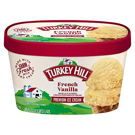 Turkey Hill Ice Cream French Vanilla - 1.5 Quart