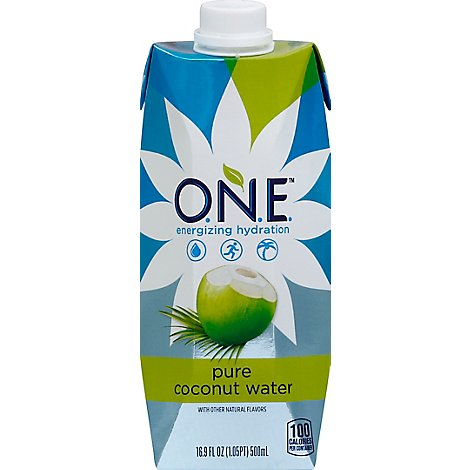 O.N.E. Coconut Water with a splash of pineapple - 16.9 Fl. Oz.