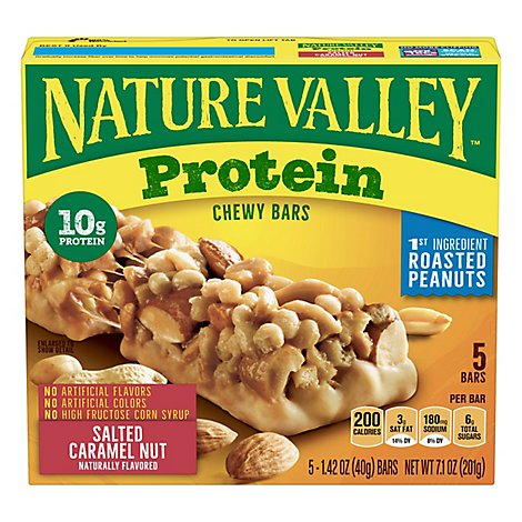 Nature Valley Protein Bars Chewy Salted Caramel Nut - 5-1.42 Oz