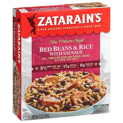 Zatarains New Orleans Style Red Beans & Rice With Sausage - 12 Oz