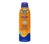 Banana Boat Ultra Sport Sunscreen Spray Clear Broad Spectrum SPF 30 - 6 Oz
