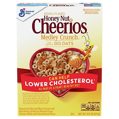Cheerios Cereal Whole Grain Oats Honey Nut Medley Crunch - 13.1 Oz