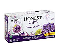 Honest Kids Juice Drink Organic Goodness Grapeness - 8-6.75 Fl. Oz.