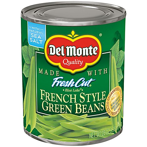 Del Monte Green Beans Blue Lake French Style - 28 Oz