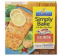 Gortons Fish Fillets Roasted Simply Bake Salmon Garlic & Butter 2 Count - 8.2 Oz