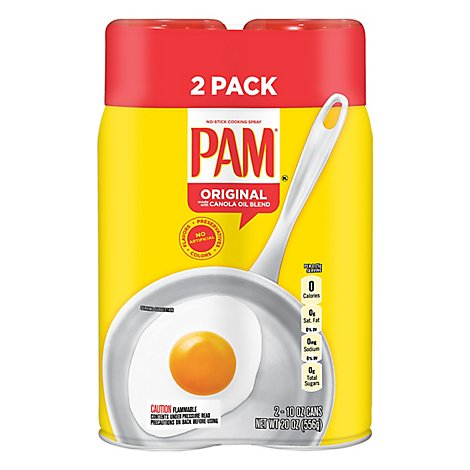PAM Cooking Spray Canola Oil Superior No Stick Original Value Pack - 2-10 Oz