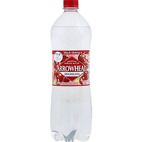 Arrowhead Mountain Spring Water Sparkling Black Cherry - 33.8 Fl. Oz.