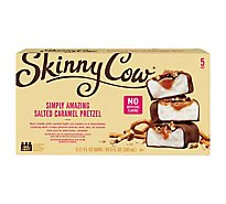 Skinny Cow Ice Cream Bars Low Fat Salted Caramel Pretzel - 5-2.1 Fl. Oz.