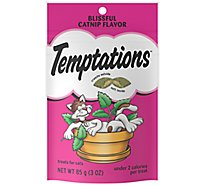 TEMPTATIONS Classic Cat Treats Blissful Catnip Flavor - 3 Oz