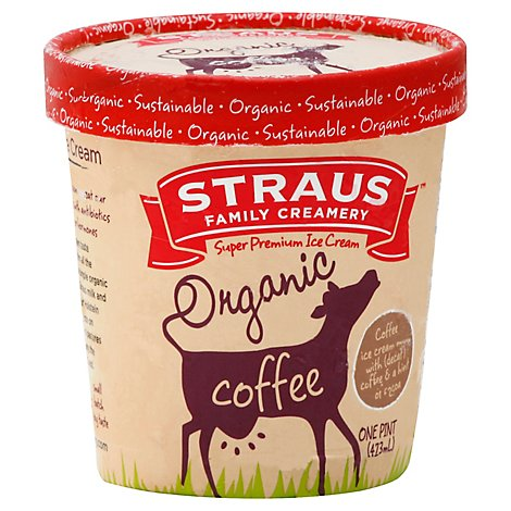 Straus Family Creamery Coffee Ice Cream - 1 Pint
