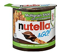 Nutella & Go! Hazelnut Spread & Breadsticks Hazelnut Jar - 1.8 Oz