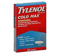TYLENOL Pain Reliever/Fever Reducer Caplets Cold Multi-Symptom Daytime For Adults - 24 Count