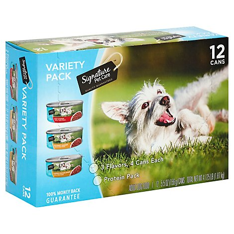 Signature Pet Care Dog Food Variety Pack Box - 12-5.5 Oz
