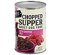 Signature Pet Care Dog Food Chopped Supper Adult With Chopped Beef Can - 22 Oz