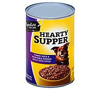 Signature Pet Care Dog Food Hearty Supper Adult Turkey Rice & Vegetable Dinner Can - 22 Oz
