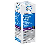 Signature Care Allergy Loratadine Childrens Oral Solution USP 5mg/5mL Grape Flavor - 4 Fl. Oz.