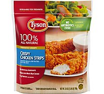 Tyson Fully Cooked Crispy Chicken Strips 25 Oz Frozen