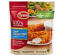 Tyson Fully Cooked Crispy Chicken Strips Frozen 25 oz.