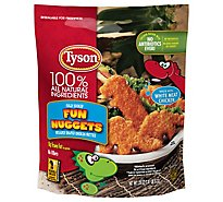 Tyson Fully Cooked Whole Grain Breaded Chicken Fun Nuggets - 29 Oz