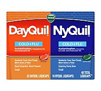 Vicks DayQuil NyQuil Cold & Flu Relief LiquiCaps Combo Pack - 48 Count