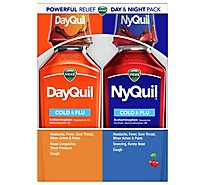 Vicks DayQuil NyQuil Cold & Flu Relief Liquid Combo Pack - 2-12 Fl. Oz.