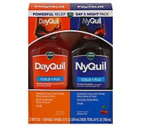 Vicks DayQuil NyQuil Medicine For Cold Flu & Congestion Syrup - 2-12 Fl. Oz.