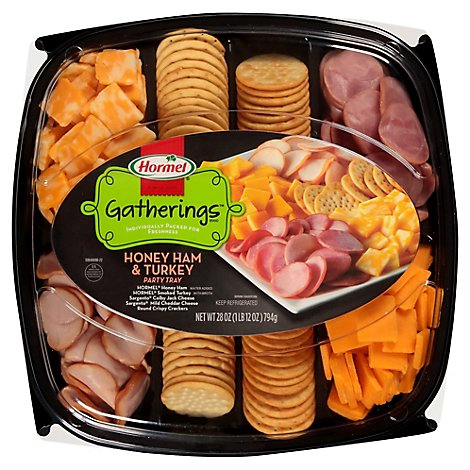 Hormel Gatherings Honey Ham & Turkey Party Tray - 28 Oz.