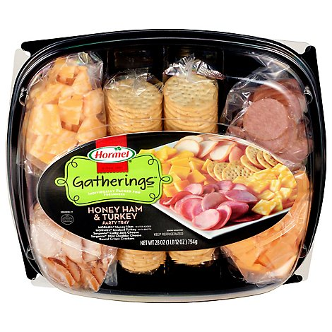 Hormel Gatherings Hard Salami & Pepperoni Party Tray - 28 Oz.