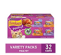 Friskies Cat Food Poultry Variety Pack Box - 32-5.5 Oz