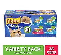 Friskies Cat Food Seafood Variety Pack Box - 32-5.5 Oz