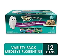 Fancy Feast Cat Food Wet Medleys Turkey Florentine - 12-3 Oz