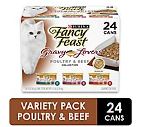 Fancy Feast Gravy Lovers Cat Food Gourmet Poultry & Beef Collection Box - 24-3 Oz