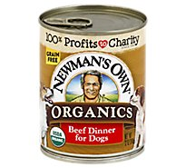 Newmans Own Organics Dog Food Dinner Grain Free Beef Can - 12 Oz
