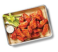 Deli Catering Tray Buffalo Chicken Wings With Garnish & Dip Tray 8 Inch