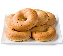 Bakery Bagels Poppy Seed - 6 Count