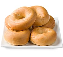 Bakery Bagels Plain - 6 Count