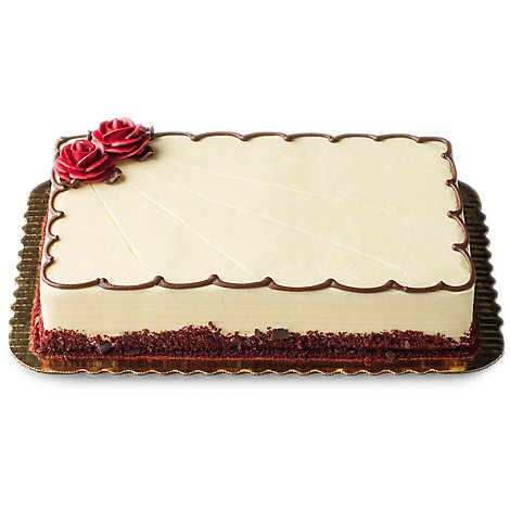 Bakery Cake 1/4 Sheet Red Velvet - Each