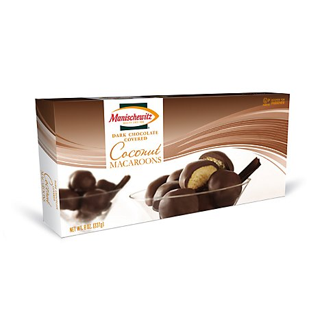 Manischewitz Coconut Macaroons Covereddark Chocolate - 8 Oz