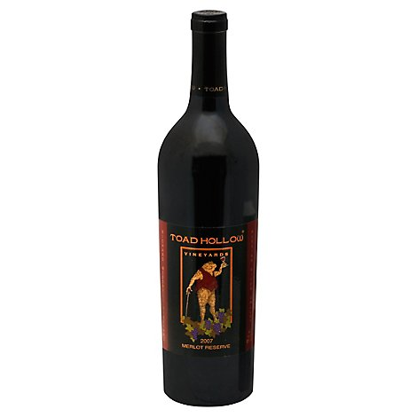 Toad Hollow Vineyards Reserve Merlot Wine - 750 Ml