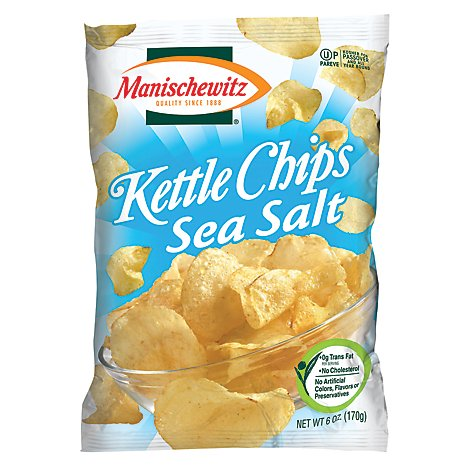 Manischewitz Kettle Sea Salt Chips - 6 Oz