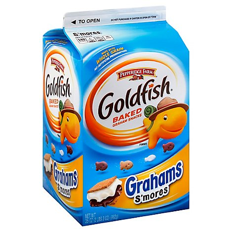 Pepperidge Farm Goldfish Grahams Baked Snack Smores Carton - 35 Oz