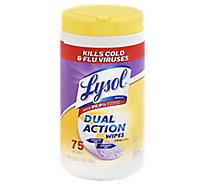 Lysol Wipes Dual Action Citrus Scent - 75 Count