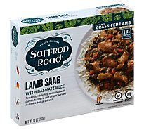Saffron Road Frozen Entree Halal Lamb Saag Medium Heat - 10 Oz