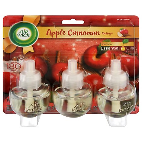 Air Wick Scented Oil Apple Cinnamon Medley - 3-0.67 Fl. Oz.